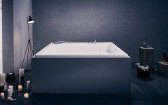 Lacus Wht Drop In Acrylic Bathtub 01